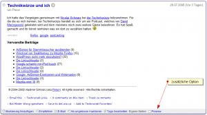Demo: Google Reader mit Preview-Funktion