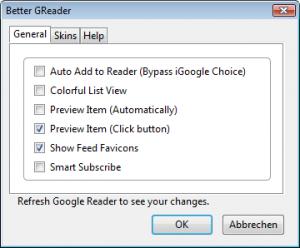 Better GRader-Optionen