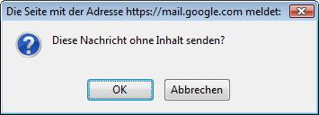 E-Mail ohne Inhalt