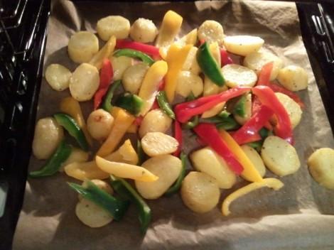 Backofenkartoffeln mit Paprika