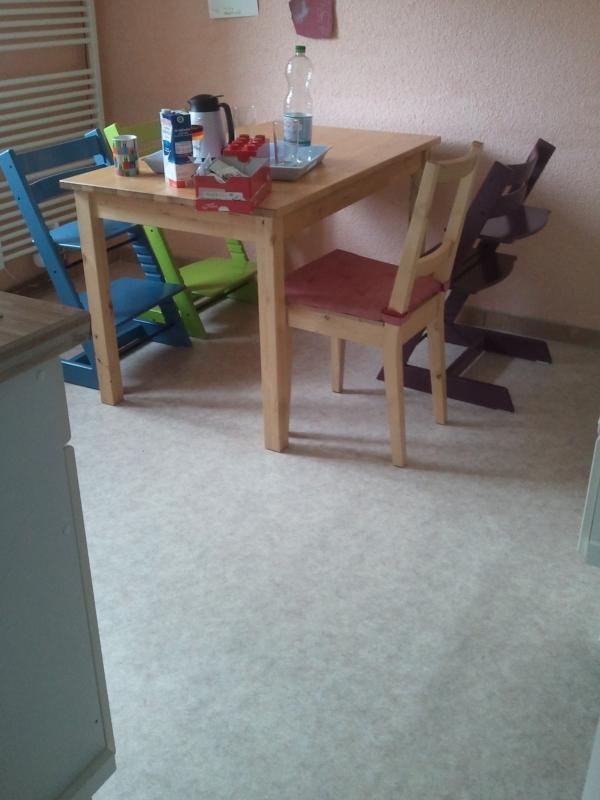 Neuer Fußboden in der Küche